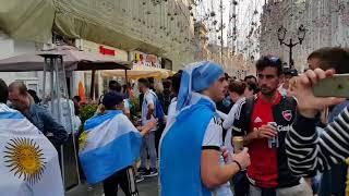 Football fans in Moscow (Nikolskaya street)
