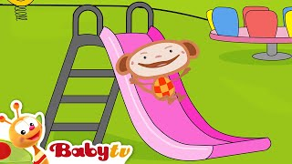 Playground Slides with Oliver - Slides for Kids | BabyTV