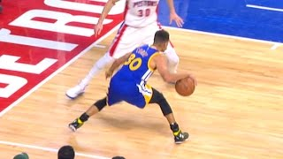Stephen Curry Smooth Behind the Back Step Back Three in Detroit | 12.23.16