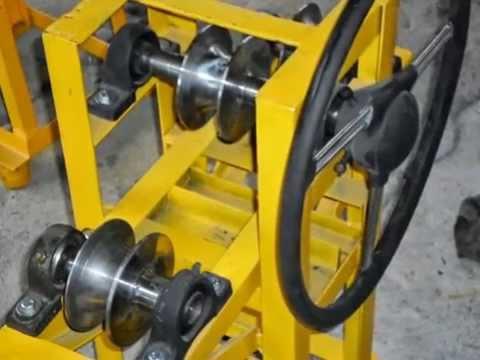 curvadora de tubos casera