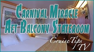 Carnival Miracle Aft Balcony Stateroom 6262