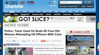 A Nude 80-Year-Old Woman With Cane tased by Police