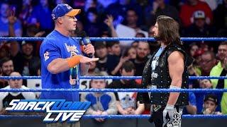 AJ Styles calls out John Cena: SmackDown LIVE, Jan. 24, 2017