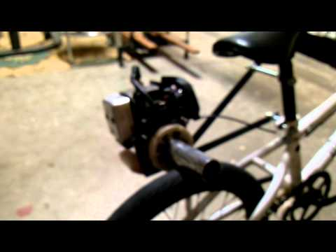Homemade friction drive motor bike part one