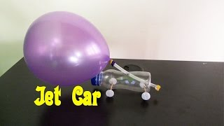 How to make a Jet Car With Balloon - Easy Tutorials
