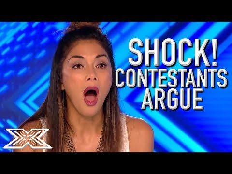 ANGRY and UPSET Contestants ARGUE With Each Other On The X Factor UK X Factor Global