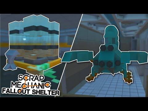Abandoned Lab & Giant Radscorpion Scrap Mechanic Fallout Shelter Project Ep.13