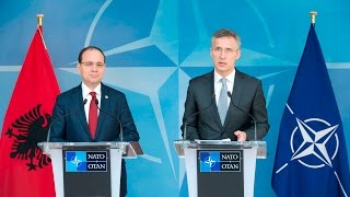 NATO Secretary General with the President of Albania, 28 APR 2016