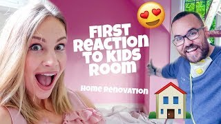 FIRST REACTION TO KIDS ROOM (Home Renovation)