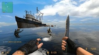 Counter Strike Source Zombie Escape mod online gameplay on Voodoo islands map
