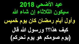 عيد الاضحي 2017 الجمعة فهل يشترط ان يكون يوم عيد الاضحي مثل اول يوم رمضان (يوم صومكم يوم عيدكم) ؟