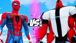 FOUR ARMS VS SPIDER-MAN - Ben 10 vs Insomniac Spiderman