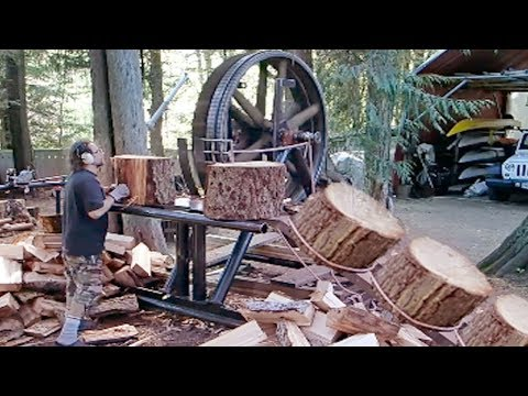 10 Dangerous Homemade Automatic Firewood Processing Machine Wood Cutting Machine Splitting Firewood