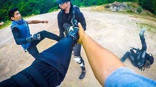 PARKOUR AUGS VS. POLICE: DEUS EX IN REAL LIFE (Deus Ex Mankind Divided) | GoPro HERO4
