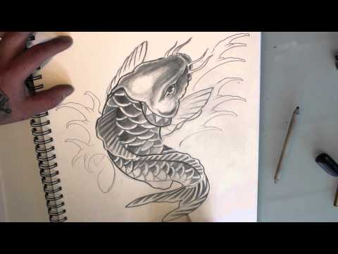 HP Nguyen draws a Koi Carp