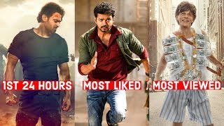 First 24 Hours, Most Liked & Most Viewed Indian & Bollywood Teaser & Trailer on YouTube