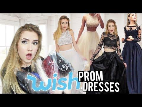 Xxx Mp4 TRYING ON WISH PROM DRESSES Success Fails 3gp Sex