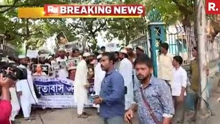 17 Muslim Groups Protest In Kolkata For Rohingyas
