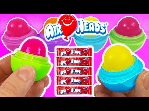 DIY: Make Your Own EDIBLE EOS AIRHEADS CANDY TREAT! Cherry, Watermelon & Blue Raspberry!