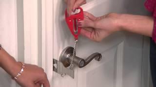 Addalock Set of 2 Portable Security Door Locks with Kerstin Lindquist