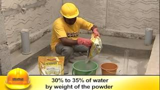 WATER PROOFING OF CONCRETE