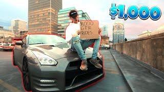 GIVING PEOPLE $1000 SUPER CAR RIDES PRANK (GTR RIDES) | David Vlas