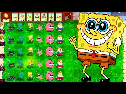Plants vs Zombies Mod Spongebob: TEAM PLANTS SPONGEBOB FIGHT!