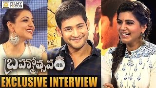 Samantha Funny Interview with Mahesh Babu & Kajal Aggarwal about Brahmotsavam Movie - Filmyfocus.com