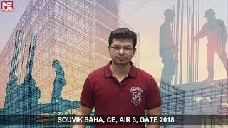 Souvik Saha, CE, AIR 3, GATE 2018