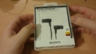 Sony MDR NC750 Noise Cancelling Earphones Unboxing