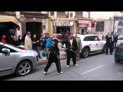 Algerian marriage traditional with shotguns , Mariage algerien traditionnel fusils