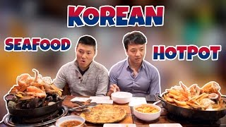 Hotpots From Different Cultures: The MASSIVE Korean Seafood Hotpot
