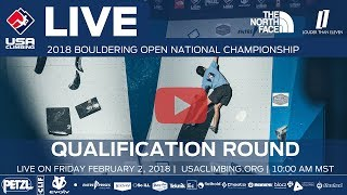 Qualification Round - 2018 Open Bouldering National Championship