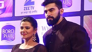ZeeTv Gold Awards 2016 – Kratika Sengar with Husband Nikitin Dheer At Gold Awards 2016 Red Carpet
