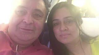 Rishi Kapoor brushes up memories with Padmini Kolhapure.