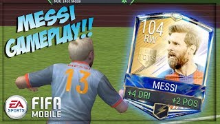 99 OVR ULTIMATE TEAM MESSI GAMEPLAY!! FIFA MOBILE HE'S A BEAST!!