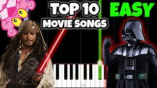 Top 10 Movie Songs To Play On Piano [Easy Piano Tutorial]