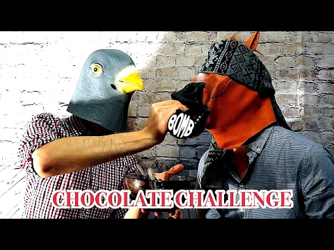 BAD DOVE & NAIVE HORSE CHOCOLATE CHALLENGE BATTLE KIDS EAT TOMATO SAUSAGE TEA PACKAGE