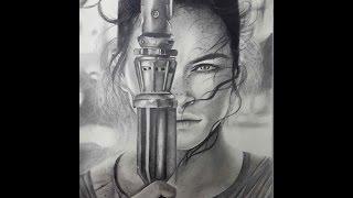 Drawing Rey (Daisy Ridley)