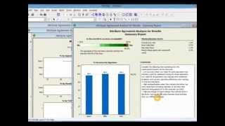 Gage R&R Attribute data in minitab, tutorial