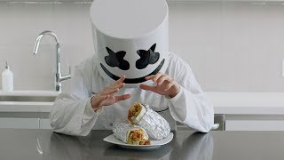 MONSTER BURRITO CHALLENGE   Cooking with Marshmello