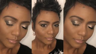 Makeup Fun: Soft Champagne Eye ft Buxom Eyeshadows | Too Faced Born This Way Foundation