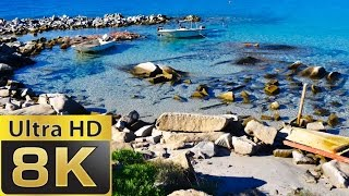 8K FUHD (full ultra HD) (7680×4320) Sardinia Paradise Beach | Blue Sea
