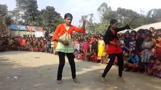 TWO DHAKA GIRLS DANCE IN VILLAGE, HOT DANCE,XX VIDEO