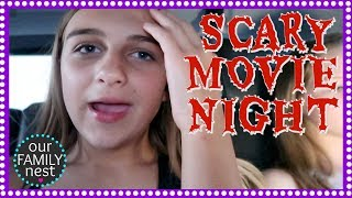 SCARY MOVIE NIGHT! WHO COVERED THEIR FACE? ENTER OUR GIVEAWAY!