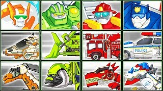 Transformers Rescue Bots: Save Griffin Rock + Dino Robot Corps | Eftsei Gaming