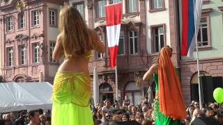 Interkulturelles Fest Mainz 2014 - Sheyda mit Tanzgruppe Monira