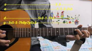 Romantic lead song Complete tabs- Guitar lesson hindi bollywood lead song beginners