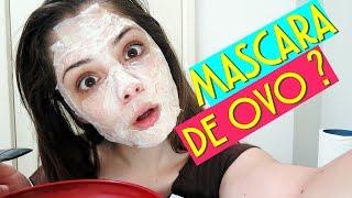 MÁSCARA FACIAL CASEIRA DE OVO: firma, clareia, limpa e diminui os poros da pele | BrunaTV