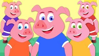 Five Little Piggies | Nursery Rhymes For Children by Kids Tv